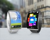 Two Curved Screen Smartwatch With Metal Watchband