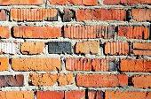 picture of mortar-joint  - Background of brick wall texture red old - JPG