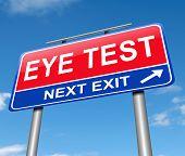 Eye Test Concept.