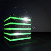 Green Neon Cube