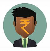 Avatar With A Rupee Sign