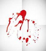 Blood splatter on paper