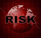 Risk Graph Shows Infochart Beware And Risky