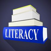 Literacy Book Means Textbook Read And Education