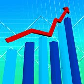 Business Graph Represents Data Graphs And Finance