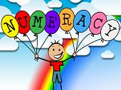 Numeracy Balloons Represents Numeric Count And Numeral