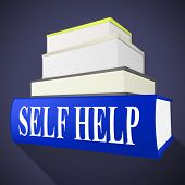Self Help Book Represents Info Information And Counselling