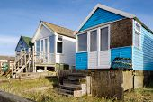 Beach Huts At Mudeford Spit