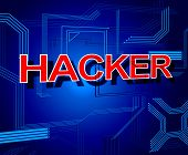 Hacker Sign Shows Spyware Unauthorized And Cyber