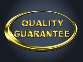 Quality Guarantee Sign Shows Guaranteed Placard And Check