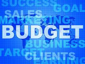 Budget Words Means Bills Costing And Money