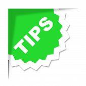 Tips Label Represents Ideas Help And Idea
