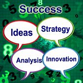 Success Words Indicates Thoughts Victory And Idea