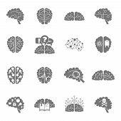 Brain icons black