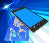 Credit Card Online Represents Web Site And Bankcard
