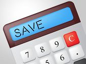 Save Calculator Represents Calculation Financial And Invest