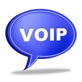 Voip Speech Bubble Means Voice Over Broadband And Online