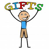 Kids Gifts Means Youngsters Presents And Surprises