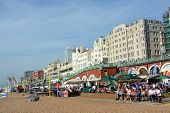 A Busy Sunday Lunchtime On Brighton Beach.