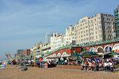 A Busy Sunday Lunchtime On Brighton Beach.