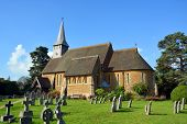 Hascombe Village Church & Graveyard, Surrey, Uk.