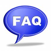 Faq Speech Bubble Means Information Asking And Questions