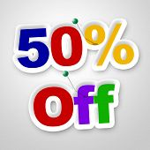 Fifty Percent Off Means Sale Promo And Discounts