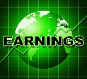 Earnings Graph Indicates Earns Incomes And Infochart