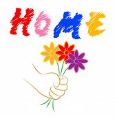 Home Flowers Indicates Property Flora And Houses