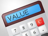 Value Calculator Represents Figures Profit And Valuable