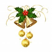 Christmas Bells And Holly Berries