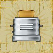 Retro Toaster. Vector