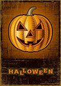 Halloween Jack O'Lantern. Vector