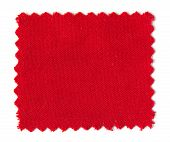 Red Fabric Swatch Samples Isolated On White Background
