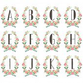 Monogram Wreath Table Card A to L