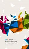 eps10 vector multicolor triangular elements business background