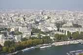 Paris Skyline View From The Eiffel Tower