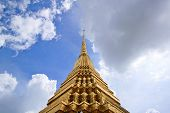 Landscape And Pagodas With The Sky  In Wat Phra Kaew