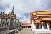 Tourist With Landscape And Pagodas In Wat Phra Kaew