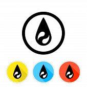 Oil Flat Icon Set