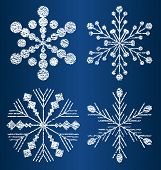 vector textured snowflakes 2