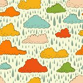 Seamless pattern with color clouds
