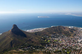 picture of lions-head  - Cape Town city bowl below Signal Hill and Lion