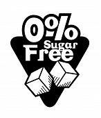 picture of free-trade  - Sugar free over white background - JPG