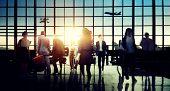 picture of hustle  - International Airport Terminal Travel Business Trip Concept - JPG