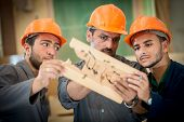pic of wood craft  - Craft workers in wood factory - JPG