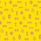pic of achievement  - Seamless oldschool gaming inspired pattern game icons achievements 90s background - JPG