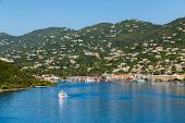 Постер, плакат: Ferry Crossing Blue Bay Of St Thomas