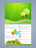 picture of pamphlet  - Beautiful nature brochure or flyer concept with place holders - JPG