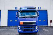 foto of tank truck  - trucks of a company of logistics and transport - JPG